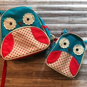 Skip Hop Owl Backpack & Lunch Bag Set-Unisex